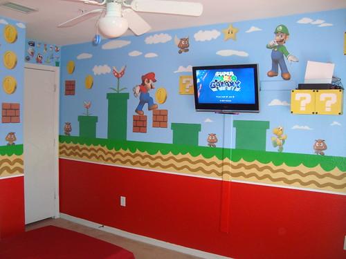 cuarto de mario bros parte de la pared.