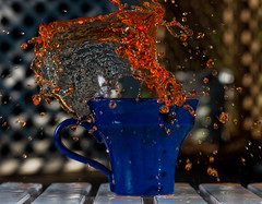 ([ Ben ]) Tags: blue cup water coffee canon square spring 85mm x crop splash f18 liquid 40d