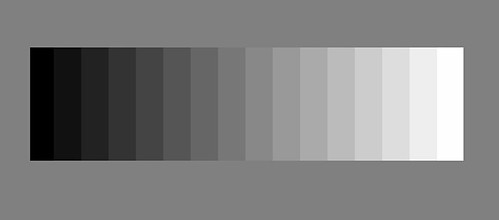 16 Step Grayscale Pattern For Monitor Calibration