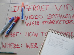Internet Marketing Plan with red markers [Photo by IvanWalsh.com] (CC BY-SA 3.0)