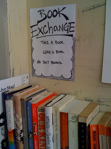 Book Exchange at Tuckshop NYC