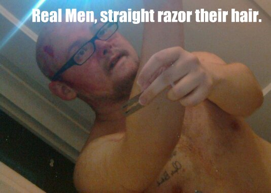 Real Men Straight Razor their hair