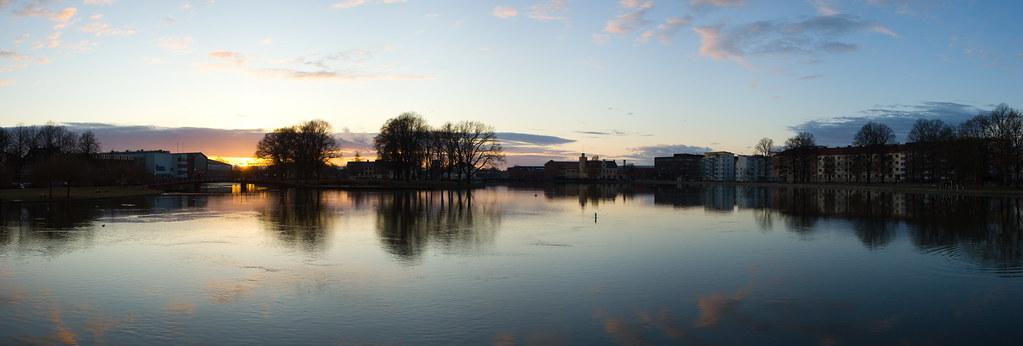 Panorama of Strömsholmen, Eskilstuna and Eskilstunaån.