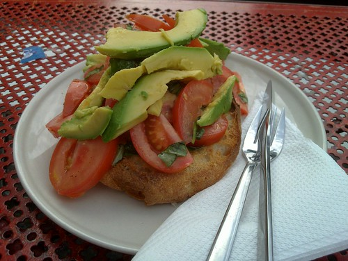 tomato and avocado on toast