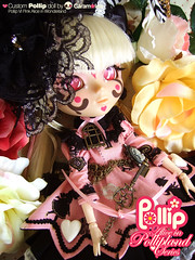 POLLIPS VI - Custom Pink Alice in Pollipland & pet Tweedee ( Caramelaw ) Tags: pullip pollip pollipland alice lorina custom series pink fantasy exclusive dolls pony vintage little caramelaw