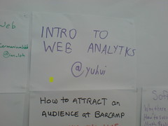 "First vote for ""Intro to Web Analytics"""