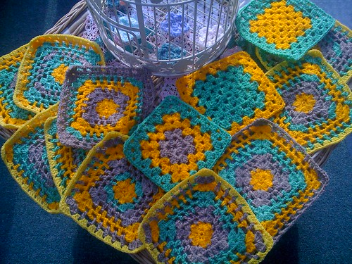 Look at these bright Squares from bonvillespics!   UK. Aren't they gorgeous! Arrived today. Thank you!