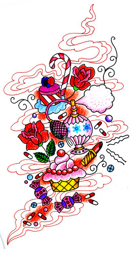 girly tattoo. Drawing for Girly Tattoo