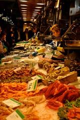 Seafood Stand (sfPhotocraft) Tags: barcelona spain europe market shellfish seafood 2010 laboqueria seafoodmarket