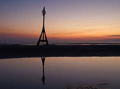 Nothing but clear skies (Mr Grimesdale) Tags: sunset reflection beach olympus crosby merseyside e510 mrgrimsdale stevewallace burbobank mrgirimesdale stevewallaceporfolio
