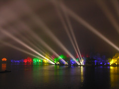 Spotlights (Roving I) Tags: lighting events westlake hangzhou spotlights impressionsshow
