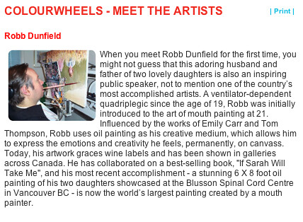 Robb Dunfield COLOUR WHEELS ARTIST