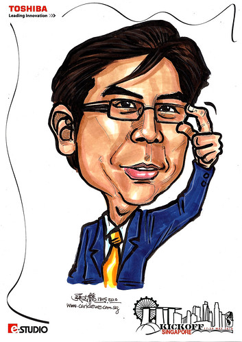 Caricatures for Toshiba - Kickoff Singapore - Albert