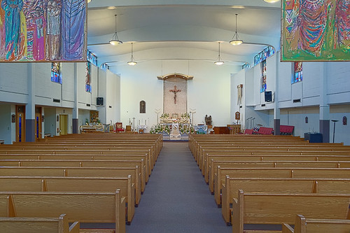 Saint Nicholas Roman Catholic Church, in Saint Louis, Missouri, USA - nave