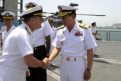 (#PACOM) Tags: people coc koreannavy officers changeofcommand gulfofaden pacom uspacificcommand ctf151 kangkamchan