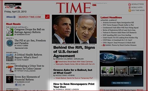 Newspaper Club on the TIME.com homepage