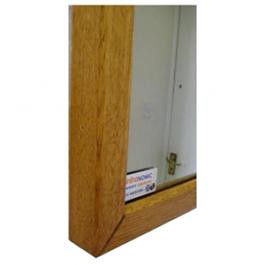 InfraHeat Beech Wood and Oak Frame Mirror panel MDF backed