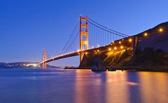 Golden Gate Bridge (and[w]) Tags: sf sanfrancisco bridge nikon filter goldengate nd bayarea horseshoebay grad f28 1735mm cokin d700 zpro