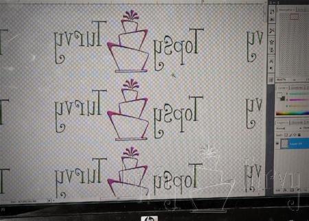 mirror writing icon personalized ribbon