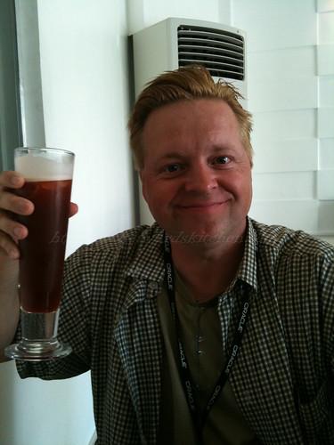 Tom with his Iced Tea