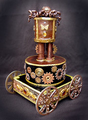 steampunk_cake (ArtisanCakeCompany) Tags: wood cake bronze oregon butterfly portland gold rivets wheels central victorian bakery copper gears artisan steampunk bakeries fondant ocotpus artisancakecompany