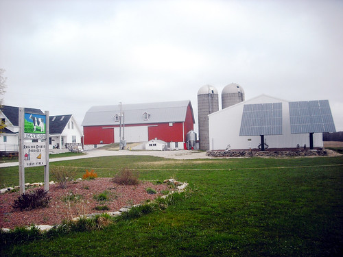 Kuehn Acres Dairy Farm in Egg Harbor, Wisconsin, and new solar panels