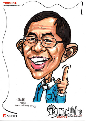 Caricature of Benny Ong