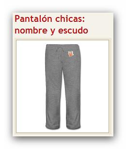 Pantalón chica_nombre y escudo