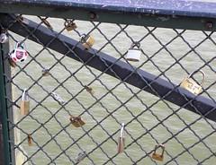 padlocks (Luana Bandeira) Tags: bridge paris france rio seine cadenas europa europe frias frana ponte 2010 padlocks sena pontdesarts cadeados