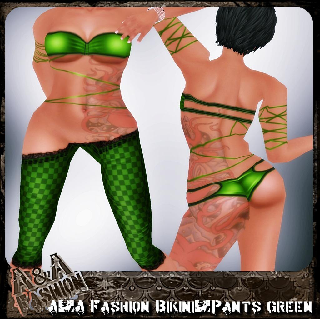 A&A Fashion bikini and pants green