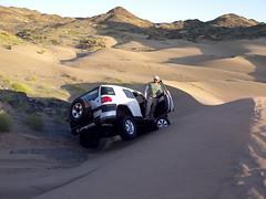 fj cruiser on tilt (shine_on) Tags: inch lift desert mud offroad 4x4 dunes 4 toyota jeddah suv fj landcruiser saudiarabia cruiser rains     bahra    feshfesh  70series