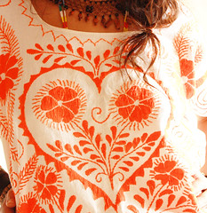 El Corazon (Aida Coronado Galeria) Tags: wedding art vintage clothing surf dress handmade folk fine resort mexican cotton hippie organic lovely pageant embroidered mexicano bohemian sixties vestido intricate pesant bordado