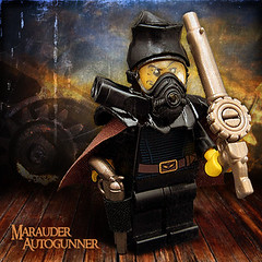 Marauder Autogunner (Morgan190) Tags: sky gun lego rifle pirate minifig custom gunner machinegun steampunk m19 minifigure rifleman skyfi morgan19 thunderheadmarauders