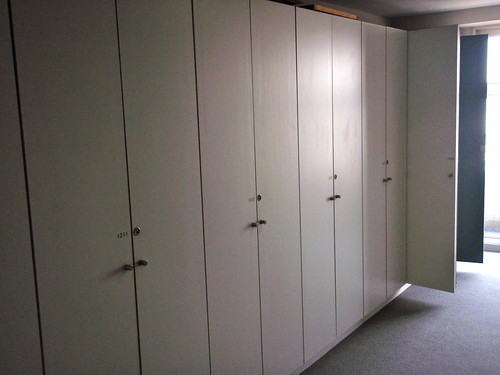 Lockers in Yokohama International Students House