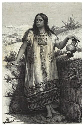 013-Joven tolteca imagen tomada de Historia de las Indias de Père Duran-Les Anciennes Villes du nouveau monde-1885- Désiré Charnay