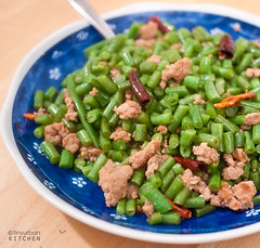 Spicy Minced Pork with Sour String Beans