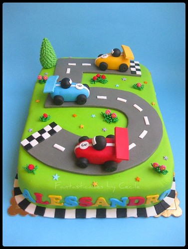Torta Circuito Auto / Racing Circuit Cake