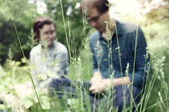 (Kristen Drozdowski) Tags: flowers friends light boy plants sun cute green love girl grass fashion out outside glasses spring blurry weeds focus couple warm picnic bokeh path lovely