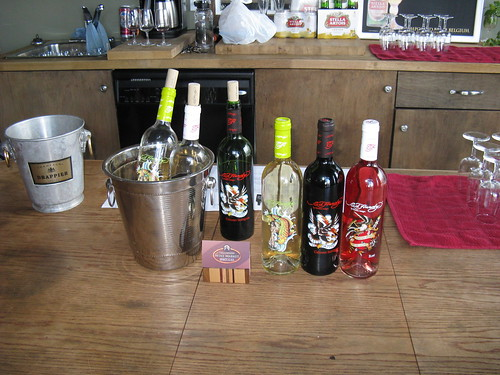 A photo of the Ed Hardy wines by Christian Audigier