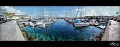 :: Puerto de Mogan :: (:: Riky ::) Tags: sea sky canon puerto muelle mar barcos cielo nubes hdr mogan rocas deportivo riky wwwrikyes