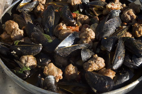 Mussels and Sausage