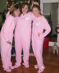 IMG_2092 (crazyboomba) Tags: christmas bunnies alyssa heather presents kimberlyn footiepjs cappi