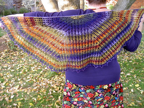 Painted Mountain Shawl