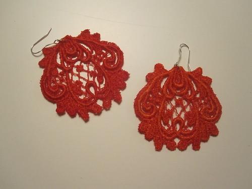 handmade lace earrings