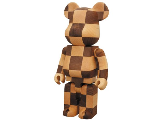 Medicom-Toy-400-Wood-Bearbrick-Chess