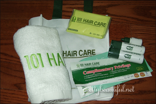 haircare kit from 101 hair care centre