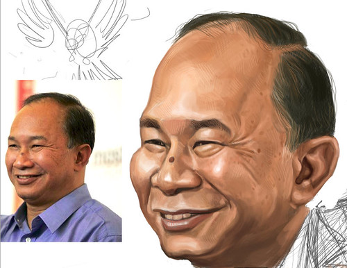 digital sketch of John Woo - 6