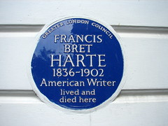 Photo of Francis Bret Harte blue plaque