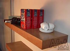 Floating shelves using veneered X-Board Plus