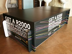 Sony Bravia stand using UV inkjet printed X-Board